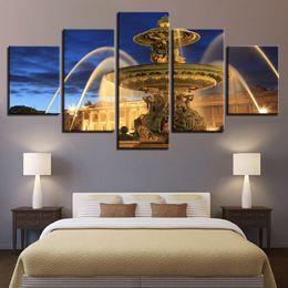 Argentina HD lona de arte de la pintura para la sala decoración de la pared de 5 Piezas Plaza de la fuente de pintura Suministro