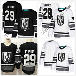 Cheap 2019 All Star Jersey Mens 29 Marc-Andre Fleury Vegas Golden Knights Black  White Blank Top Quality Men All-Star Patch Hockey Jersey b9c9227a7