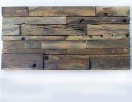 Argentina 30x60 CM mosaico de madera natural NWMT027 azulejos backsplash de cocina 3D mosaico de madera patrón de azulejo de la pared Suministro