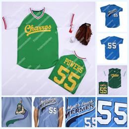 Número de beisebol on-line-55 Kenny Powers Eastbound e Down Mexicano Charros Jersey Mens Jersey Baseball Jersey duplo costurado nome e número de transporte rápido
