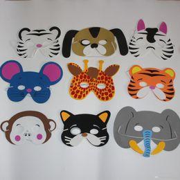 schaum gesichtsmaske Rabatt Cariel Cariel 108pc 12 Asst Kinder Foam Tiergesichtsmasken Zoo Farm Party 1 Set (12 Arten Tier) Geburtstags-Party Supplies H47
