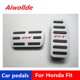 honda passen zubehör Rabatt Zubehör für Aluminium-Auto-Pedal für Honda Fit / Honda Jazz 2014 2015 2016 Gaspedal Bremspedal Fußstütze Pedal