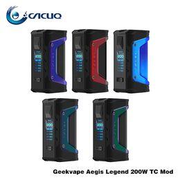 Argentina Auténtico GeekVape Aegis Legend 200W Caja de TC Mecánica Mod e cig Dual 18650 Batería Caja de Vape Mods Kits de inicio Suministro