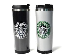 2019 starbucks de acero inoxidable Starbucks Copas Estilos Acero inoxidable flexibles las tazas de café taza del té Viajar tazas del té de vino Copas starbucks de acero inoxidable baratos