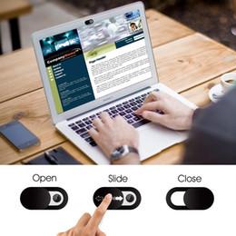 2019 i più nuovi universale del computer portatile WebCam copertina nera Shutter magnete cursore in plastica copertura della macchina fotografica per il web PC del iPad Macbook Tablet Privacy Sticker da