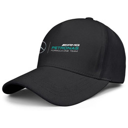 Womens Mens Washed Cap Hut Plain Einstellbare Mercedes AMG petrons Logo Punk Hip-Hop Baumwolle Hysteresenhüte Sommerhüte Military Caps Bucket Hat von Fabrikanten