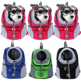 2019 mochilas de moda Portátil e prático de viagem Pet Carrier Bag Cat Dog Outdoor Shoulder Duplo malha respirável Backpack New Fashionable desconto mochilas de moda