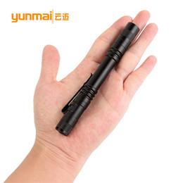 Мини-перо фонарик онлайн-Xpe R3 Led Pen Light Flashlight Mini-Медицинский Светодиодный Фонарик Ручка Застежка Типа Факел
