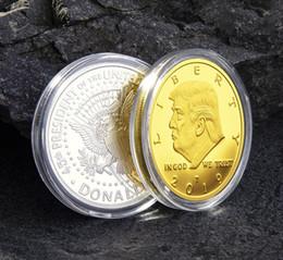 коробка богатства Скидка 2020 Трамп монеты памятная монета американский 45-й президент Дональд ремесло сувенир золото серебро металлический значок коллекция без валюты FA2056