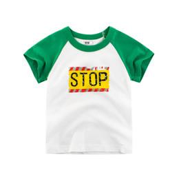 Menina, amarela, camisa, desenho on-line-Projetado Imprimir Tees Tops Casual Crianças Meninos Meninas de Algodão T-shirt de Manga Curta Camisetas de Verão Amarelo Verde Crianças T Respirável Tops