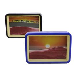 Argentina Manualidades de vidrio Sandglass 3D Quicksand Pintura con espejo Ornamento Reloj de arena Contador de tiempo Arte Mover arena Pintura Regalos de cumpleaños supplier time counter Suministro