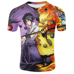plus größe naruto kostüme Rabatt Neue Verkauf Anime 3d Druck T-shirt Naruto Kostüm Streetwear Harajuku Tops Tees Sommer T-shirts Unisex Cartoon T-shirt Plus Größe