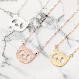 Very cute crystal eye enamel panda charm necklace