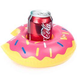 Nuevos inflables calientes online-nuevo flotador caliente flamenco portavasos copa inflable posavasos inflable bebida titular para piscina colchones de aire para la fiesta de la taza