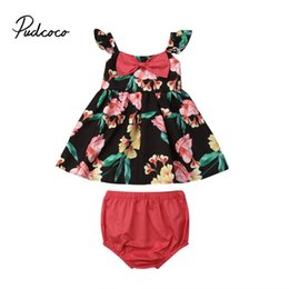 5ef1b4d5f 2019 Brand New Infant Toddler Newborn Baby Girls Floral Outfit Clothes  Tracksuit Bow-knot Dress +Short+ Floral Headband 3Pcs Set discount newborn  baby boy ...