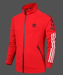 черное кожаное спортивное пальто Скидка ADIDAS новый роскошный мужская куртка мода мужская спортивная куртка классика мужская повседневная куртка