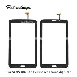 зеркало для замены галактики samsung Скидка Сенсорный Экран Digitizer Датчик Передняя Стеклянная Панель Для Samsung Galaxy Tab 3 7.0 T210 Замена Стекла Мобильного Телефона Частей