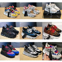 2019 Hot Medusa Chain Reaction Designer di marca Sneakers Sport Fashion running outdoor Scarpe da allenamento leggera suola New-Versace supplier hot soles shoes da calzature calde suole fornitori