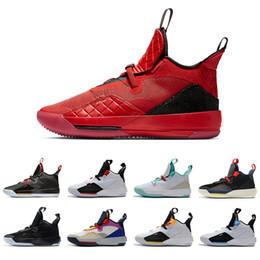 Futuro zapato de baloncesto online-2019 Visible University Red XXXIII PF 33 Zapatillas de baloncesto para hombre CNY Utilidades Blackout Future of Flight Tech Pack 33s Hombres zapatillas deportivas