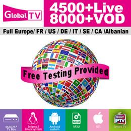 2019 sport tv ao vivo Global TV IPTV Assinatura 4500+ canais ao vivo 8000 + VOD Itália UK canal de esportes para Android TV Box 4k ultra inteligente tv M3u abonnement iptv sport tv ao vivo barato