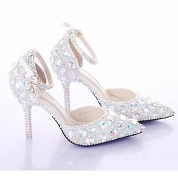 a6947cf9973 newest designer shoes crystal rhinestone Shiny high heel female lady s Women  Bridal Evening Prom Party club Bar Wedding Bridesmaid shoes