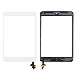 Cámara ic chip online-Pantalla táctil de alta calidad para iPad mini 1 mini 2 digitalizador Glasss Panel + IC Chip + botón de inicio + adhesivo + soporte de cámara DHL gratis
