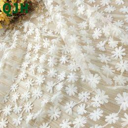 pano suíço Desconto Novo Branco Rosca de Algodão Suíço Bordado Tecido de Renda de 120 cm de Largura Francês Voile Macio Oco Malha Tule DIY Vestido de Noiva Pano