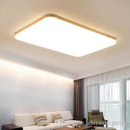 Argentina Luces interiores de los anillos de madera de las luces de techo modernas del iphone LED para el accesorio de iluminación del dormitorio de la sala de estar AC85-265V cheap wooden ceiling light fixtures Suministro