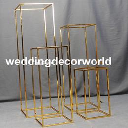 Stehen für die hochzeit online-Neueste (keine Blumen einschließlich) Vergoldung Blumenständer Hochzeitsdekoration Blumenständer decor0576