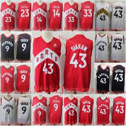 2019 scuola nera degli alti talloni Uomo # 43 Pascal Siakam 2019 finali di Champions Jersey ricamati 33 Marc Gasol 9 Serge Ibaka di pallacanestro Jersey S-2XL