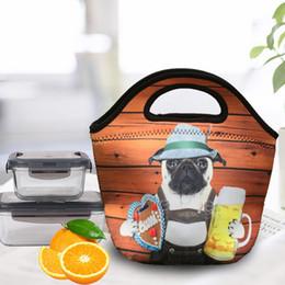 Material panda on-line-Panda Lunch Box Bag Isolamento Térmico Dobrável Dos Desenhos Animados Wrap Twill Material de Mergulho Pacote de Alta Capacidade Portátil Bolsa Nova 9 9jsb1