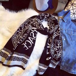 2019 mangas de xale longo lenço de inverno 2019 Top Quality Moda Inverno Cashmere Scarf pillowtop Scarf Para Mulheres lenços embrulhar Xaile Tamanho 180x70cm