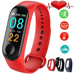 Deutschland M3 Smart Band Armband Farbe Bildschirm Fitness Tracker Schrittzähler Herzfrequenz-blutdruckmessgerät Sport M3 Bands Smart Armbänder cheap sport heart rate bracelet Versorgung