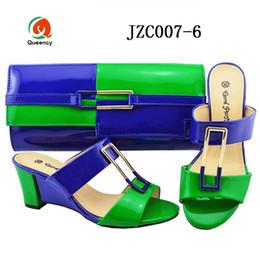 Dgrain di alta qualità moda all'ingrosso colore morbido borse africane ragazza partito borse e scarpe moda per le signore da