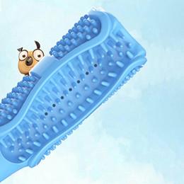 Animais exóticos on-line-Brinquedo do animal de estimação cão de estimação vara molar pet suprimentos de borracha brinquedo mordida escova de dentes novos animais exóticos brinquedo