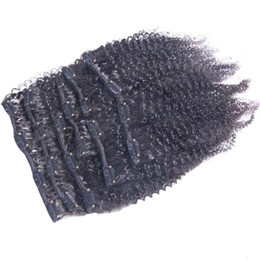 Işlenmemiş Bakire Brezilyalı Sapıkça Kıvırcık Saç 9 Adet / takım Afro Kinky Kıvırcık İnsan Saç Uzantıları Klip Remy Saç Uzantıları Doğal siyah supplier unprocessed virgin afro human hair extensions nereden işlenmemiş bakire afro insan saç uzantıları tedarikçiler