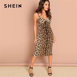 f8fe3dd1a9dc shein dresses Coupons - SHEIN Multicolor Sexy Party Backless Leopard Print  Cami Sleeveless Pencil Skinny Club