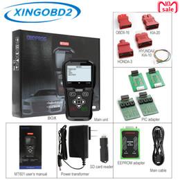 Correção de milhagem eeprom on-line-OBDPROG MT601 Car Scanner Key Programador Mileage correção do odómetro correção EEPROM Pin Code Reader OBD2 PK OBDSTAR X300 X100