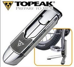 2019 пластиковые велосипедные педали Topeak FlashStand Slim TW011 Складной, без повреждений алюминиевый шоссейный велосипед, ремонт подставки и дисплей, легкий размер кармана # 41744