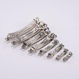 configuración de la joyería de oro 14k Rebajas 10 unids francés estilo Barrette primavera pinzas para el cabello Clip automático ancho en blanco ajuste de rodio arco horquilla suministros para la fabricación de joyas
