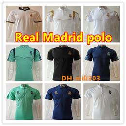 2019 maglie lebron a buon mercato 2019 Uniformi 2020 Real Madrid Calcio Maglia Polo 19/20 Real Madrid PERICOLO DI BENZEMA JAMES camicia manica corta formazione MARCELO Calcio POLO