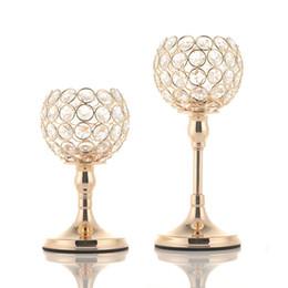 pilares de cristal Desconto Pilar de vidro Tealight Castiçais de Cristal Castiçais Presentes de Dia Dos Namorados Decoração de Casamento para Casa presente de inauguração