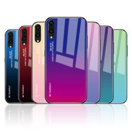 2019 huawei honor pro Caja del teléfono de cristal templado degradado para Huawei Honor 8X Mate 20 Pro Mate 10 P20 Lite Plus Nova 3i P30 cubierta de la cubierta rebajas huawei honor pro