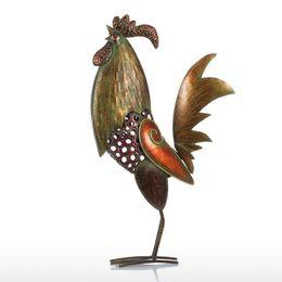 Arte de galo on-line-Tooarts Galo Decoração de Casa Artesanato de Ferro Presente Artesanato Animal Ornamento Q190604