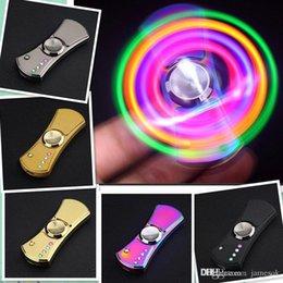 Allume de lumière LED Tri-Spinner Spinner à la main USB allume-cigare Fidget cadeau jouet de filature 2017 allume-cigare EDC spinner b956 ? partir de fabricateur