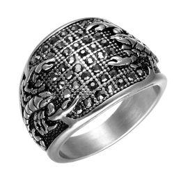 2019 панк-рок полный палец кольца Finger Новой моды из нержавеющей стали Мужского персонализированного Punk Полного Black Diamond Scorpion кольцо диапазон Rock Rapper ювелирных подарки для парней Оптового скидка панк-рок полный палец кольца