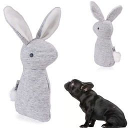 small bells toys Coupons - Vocalization Pet Toy Rabbit Plush Stripe Small Bell Lovely Three-Dimensional Kitty Doggy Toys New Pattern Hot Selling 5 2md J1