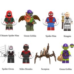 Avengers 4 Endgame Ultimate Spider-Man Green Goblin Spider-Man Kingpin Spider-Gwen Miles Morales Scorpion Mini Toy Figure Building Block da