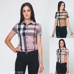 Modelos de polo on-line-Designer de Camisas das Mulheres de Alta Qualidade de Impressão Em Torno Do Designer Da Marca T-shirts Modelos Short-mulheres Camisas Polo Atacado