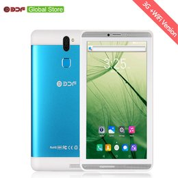 android tablet pc sim karte Rabatt 2018 BDF 7 Zoll Bildschirm Android 6.0 Telefonanruf Sim-Karten-Tablet-PC 1 GB RAM + 16 GB ROM Quad Core FM WiFi Bluetooth Metallaluminium